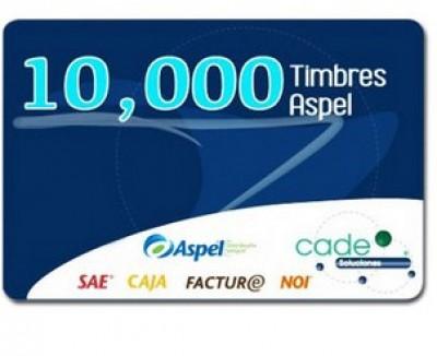 Timbres Fiscales FACTE/10000 Electrónicos ASPEL FACTE/10000